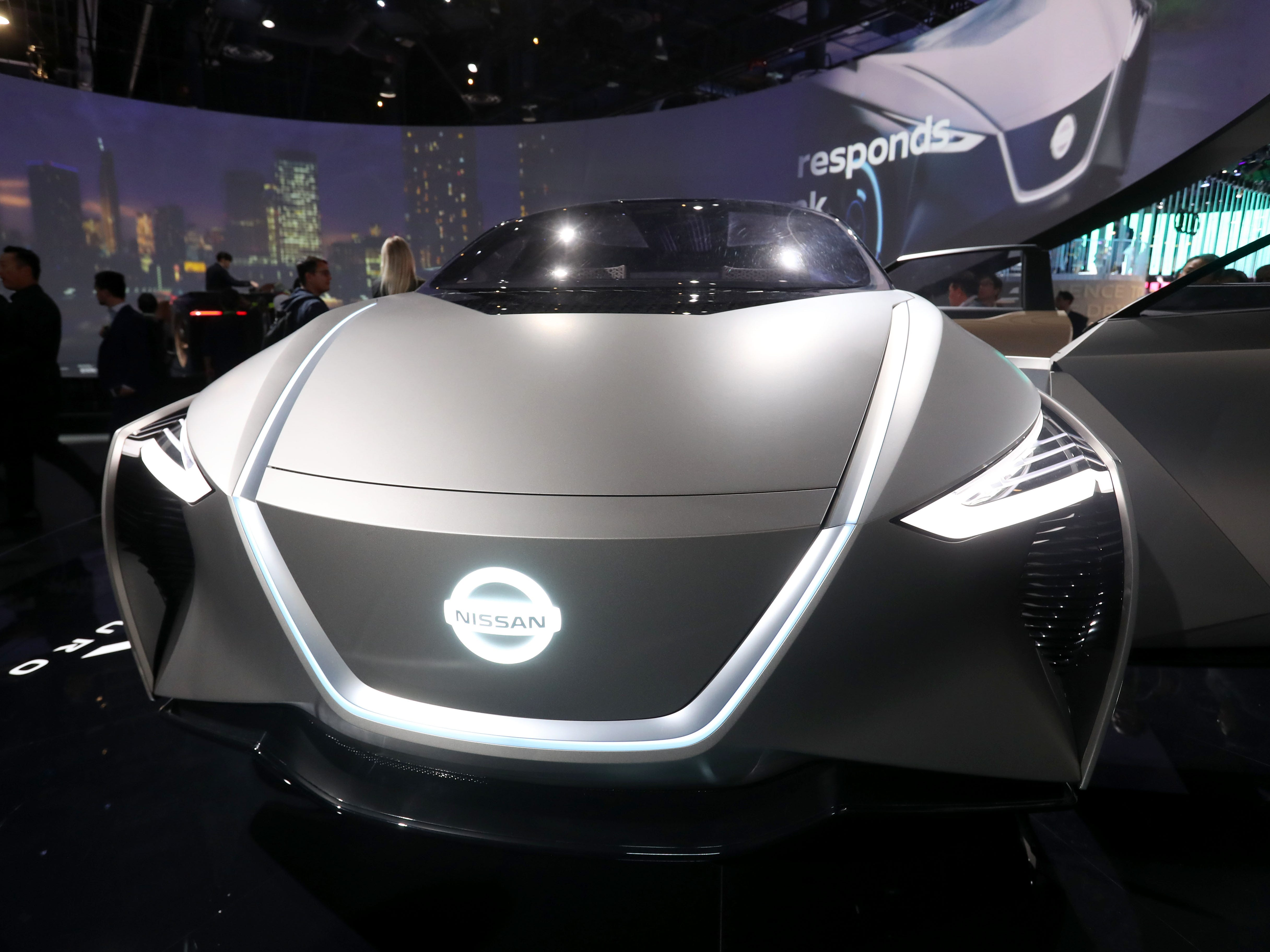 The Nissan IMx KURO autonomous vehicle.