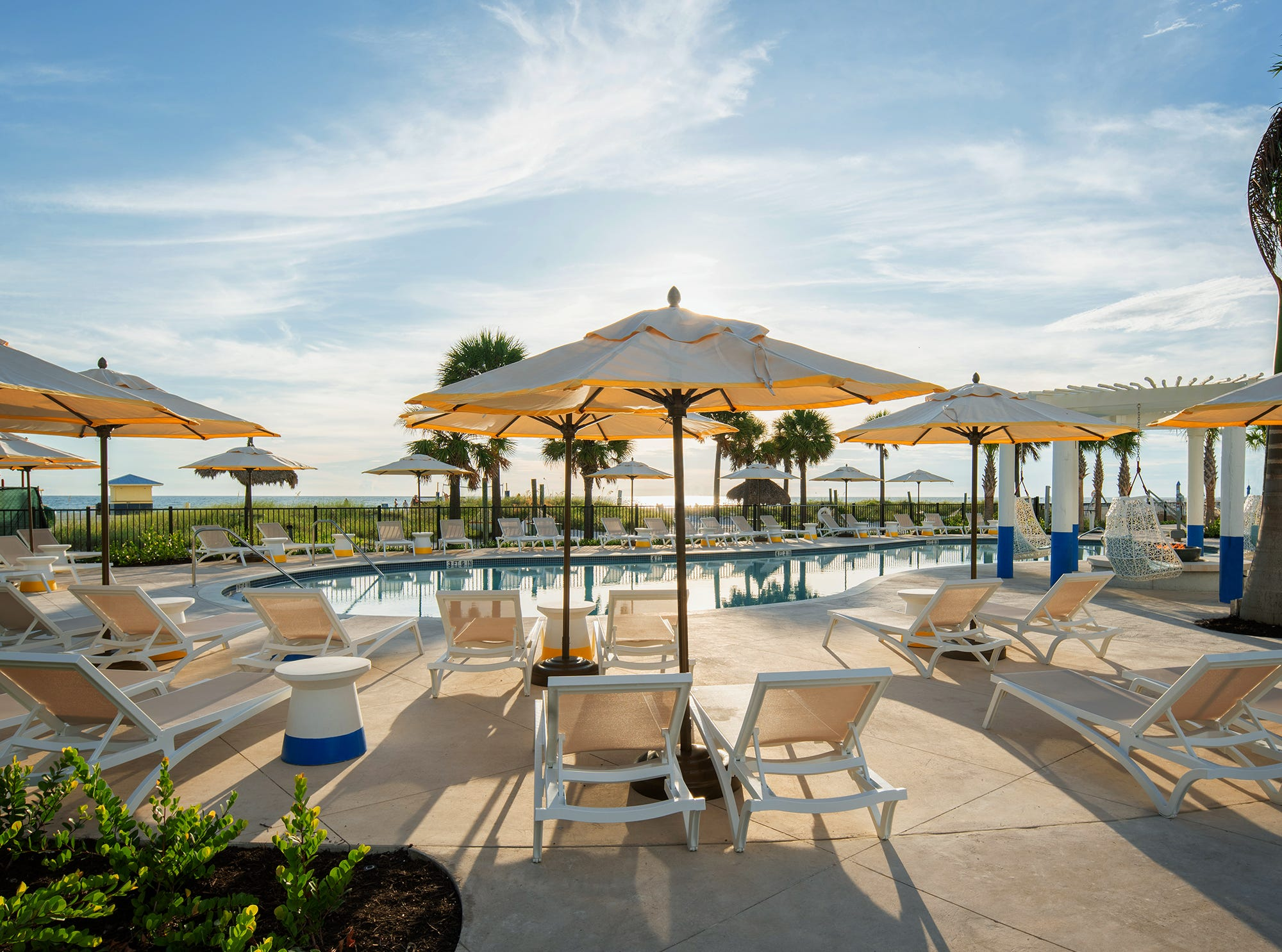 Sirata Beach Resort in St. Pete Beach, Florida, also has a north pool area.