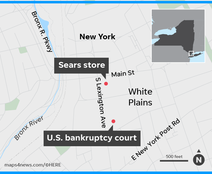 Sears store in White Plains sees its future set in court 2 blocks away