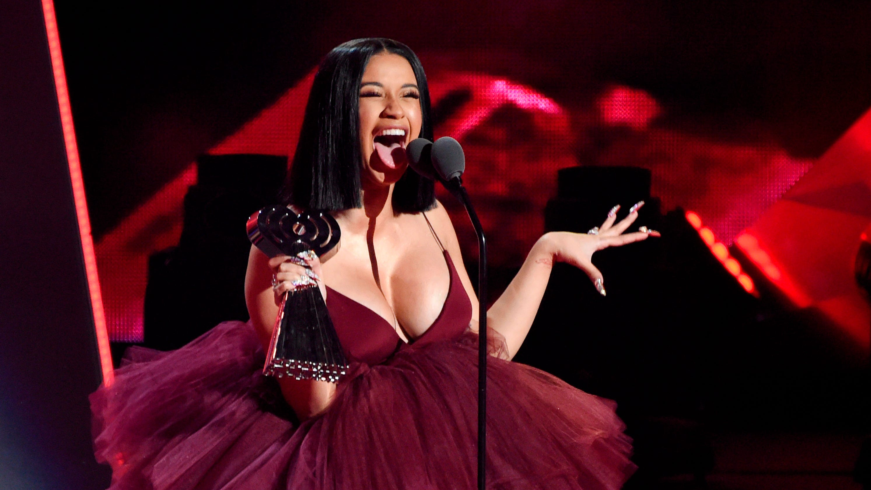 Cardi B Actually Heartbroken Despite Putting On Brave: IHeartRadio Awards Noms: Cardi B Leads With 13 Nods, Drake