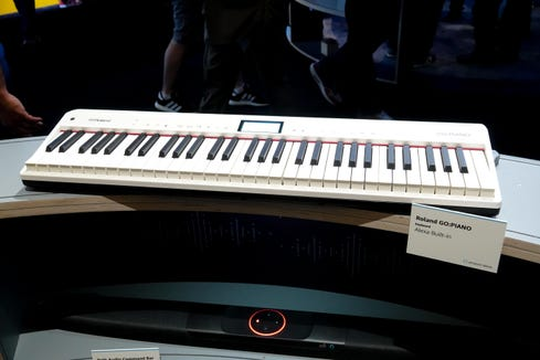 The Roland Go: Piano answers to Alexa to record songs and play pre-recorded ones.