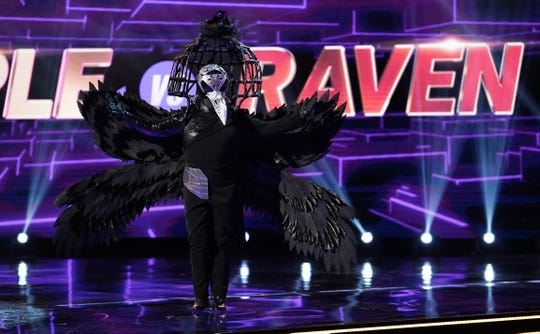 "The Raven sings in ""The Masked Singer."""