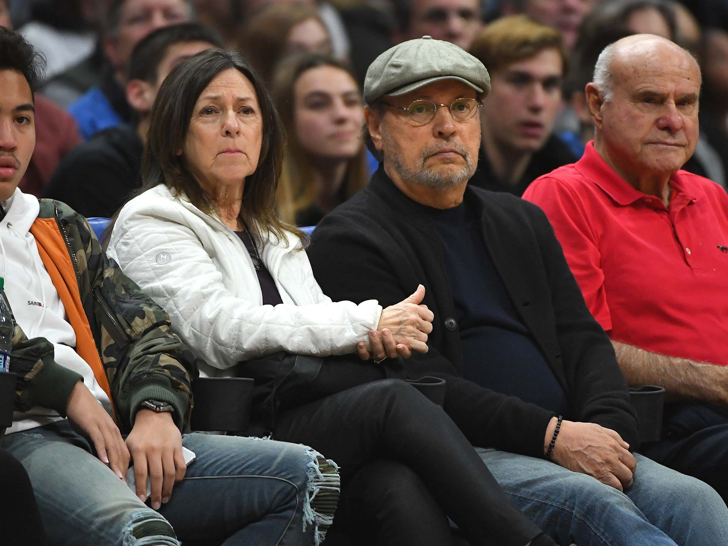 Jan. 6: Entertainer Billy Crystal and his wife Janice Crystal attend the game between the Los Angeles Clippers and the Orlando Magic at Staples Center.