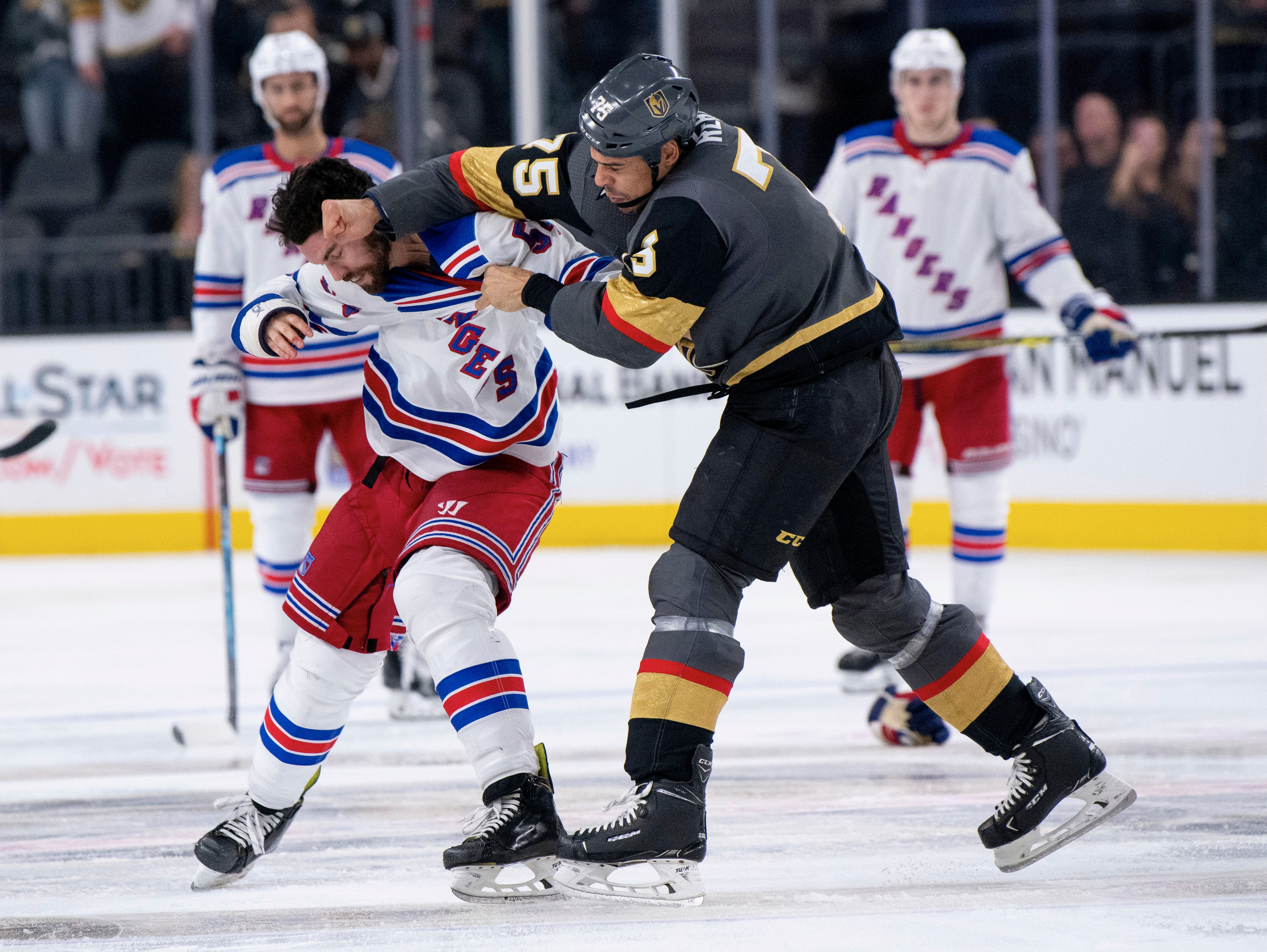 Jan. 8: New York Rangers' Adam McQuaid vs. Vegas Golden Knights' Ryan Reaves.