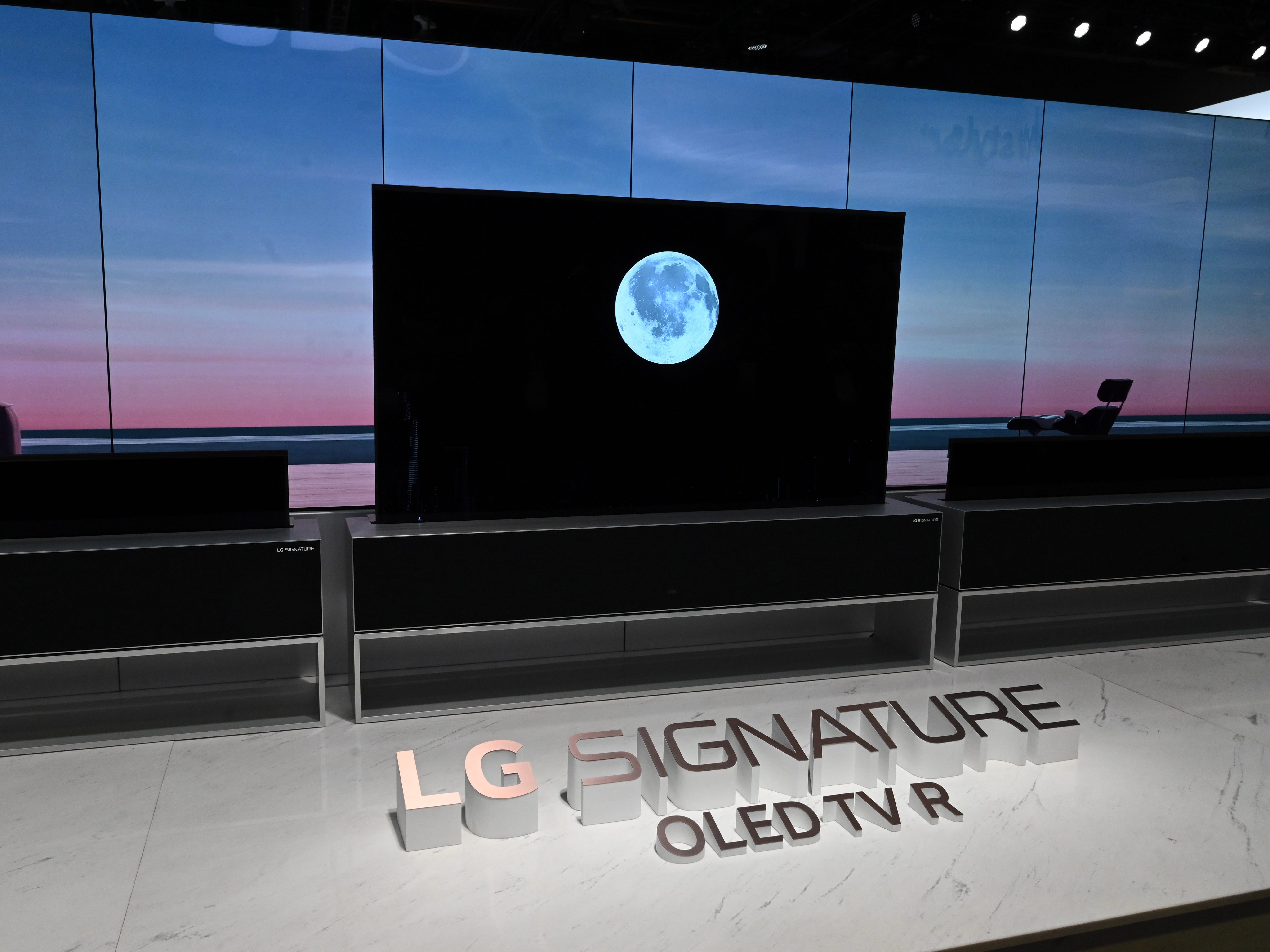 The LG Signature OLED TV is the first rollup television.
