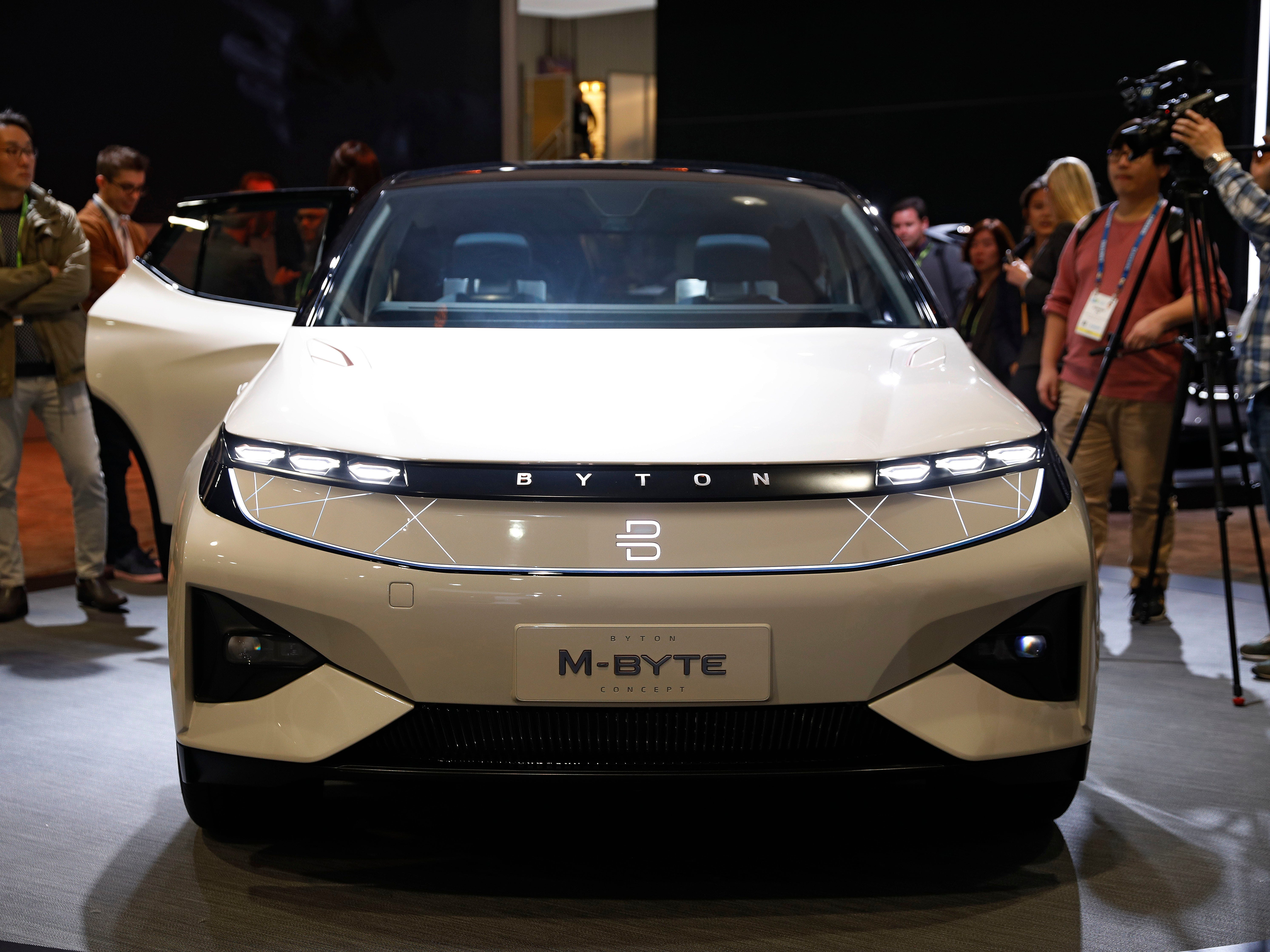 The Byton M-Byte SUV.
