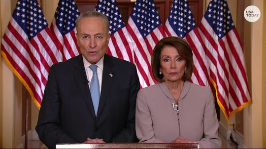 Senate Minority Leader Chuck Schumer and Speaker of the House Nancy Pelosi respond to President Trump's address on the government shutdown.