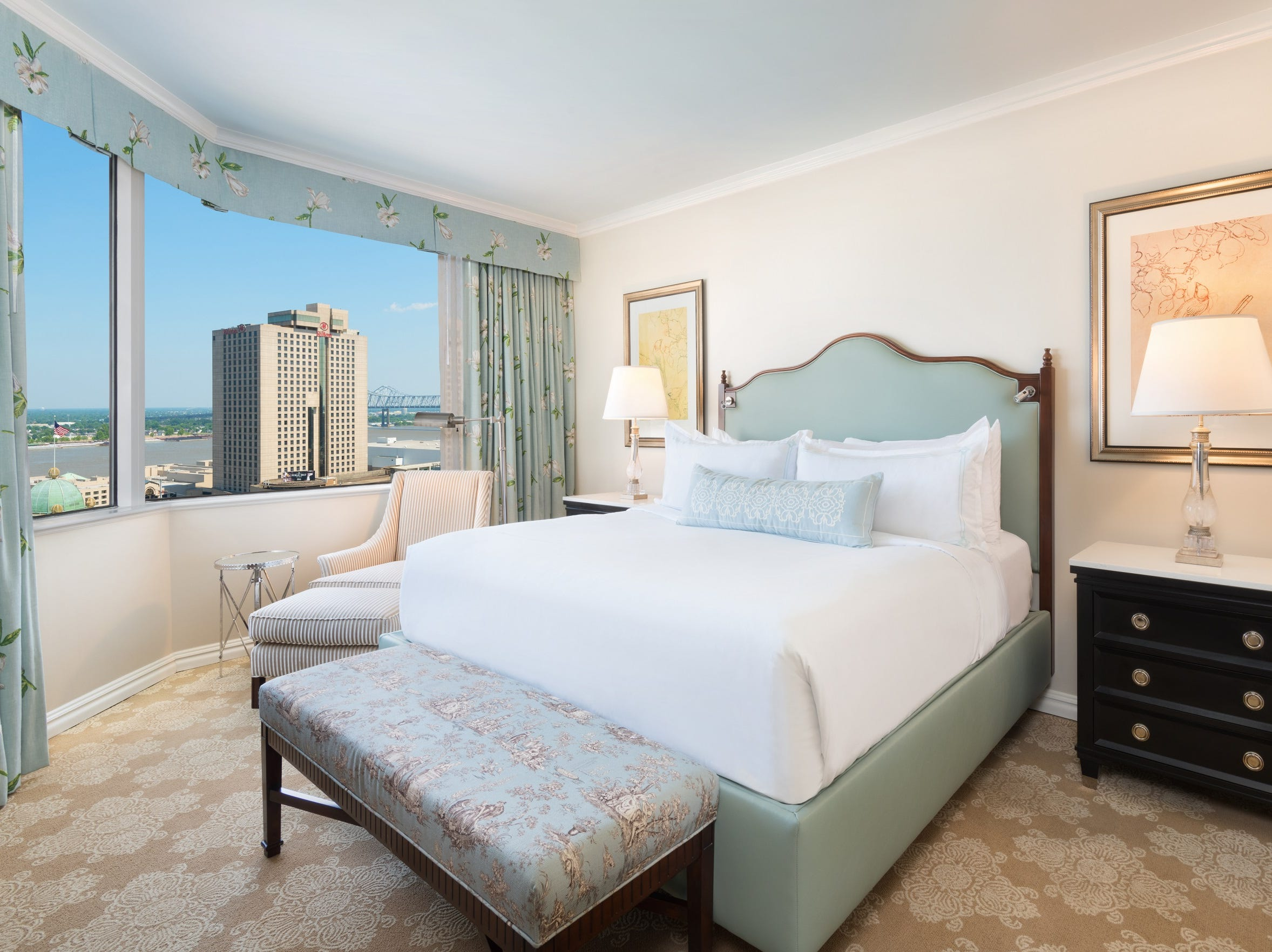 All 316 guestrooms and suites at the Windsor Court Hotel in New Orleans were modernized.