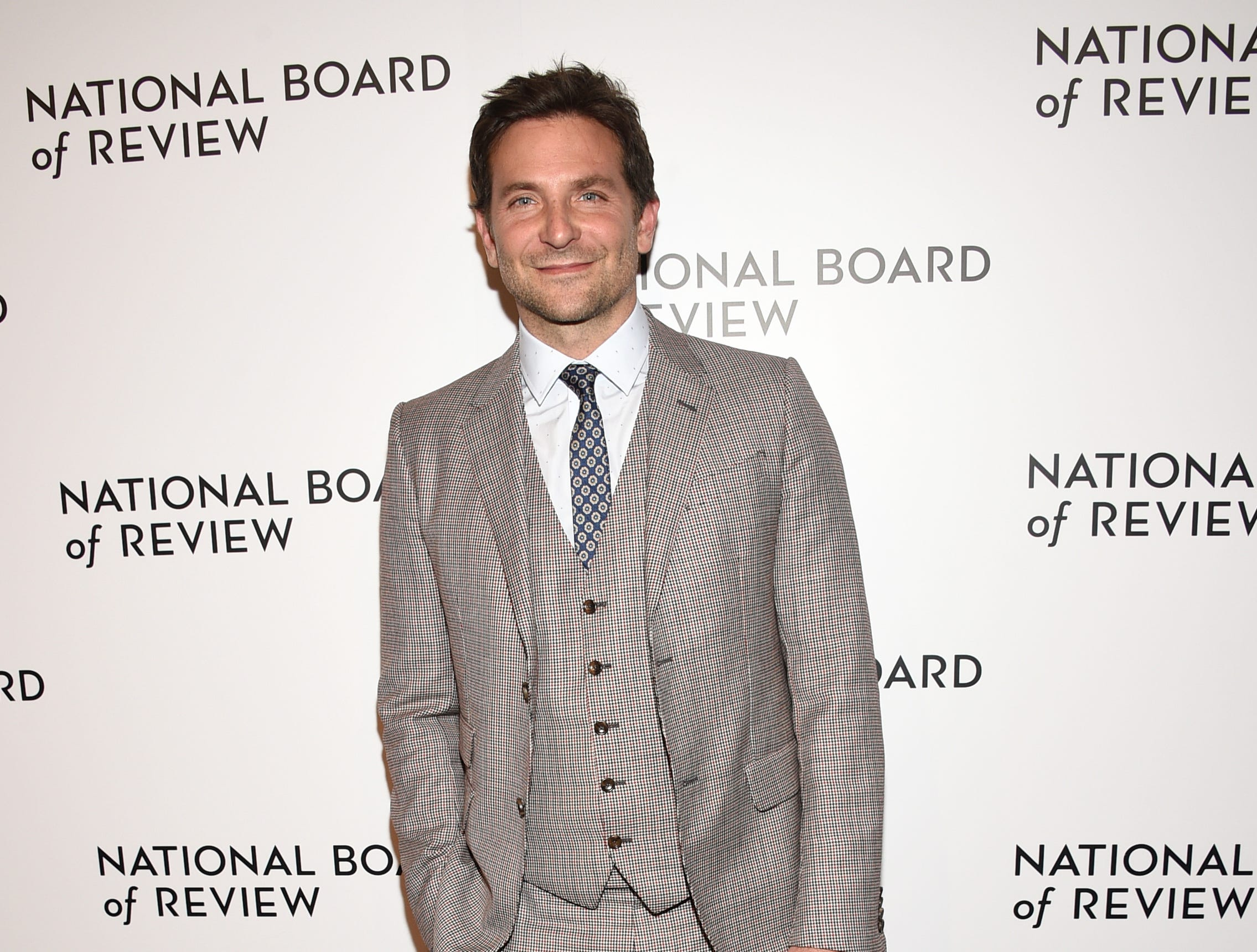 Bradley Cooper attends the National Board of Review Awards gala at Cipriani 42nd Street on Tuesday, Jan. 8, 2019, in New York. (Photo by Evan Agostini/Invision/AP) ORG XMIT: NYBR102