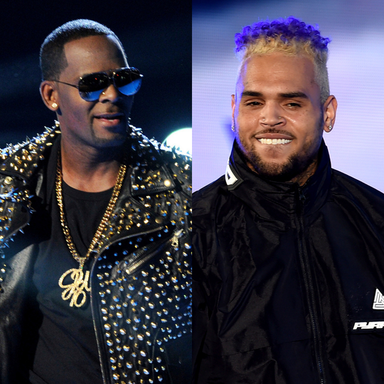 R. Kelly and Chris Brown.