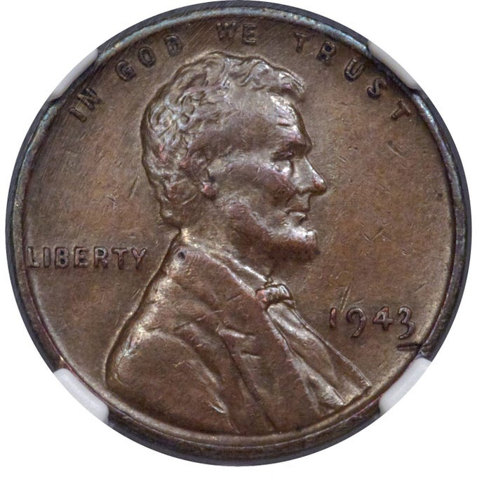 In 1947, a Massachusetts teenager was given a handful of change from his school cafeteria. One of those coins could bring in six figures at an upcoming auction. The rare coin was mistakenly minted in copper in 1943 when all U.S. cents were supposed to be made of zinc-coated steel – copper was needed to produce bullets and wire for the World War II effort, according to Heritage Auctions, which is selling the coin. The penny will go on sale January 10 through January 13 in Orlando, Florida. Heritage Auctions estimates the coin may go for upwards of $170,000.