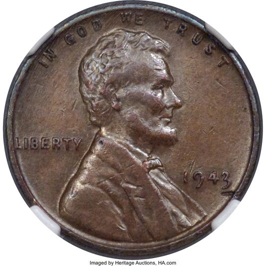01 1943 Bronze Lincoln Cent