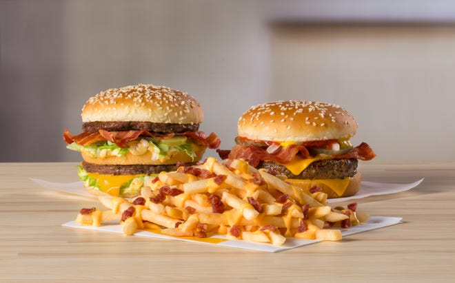 McDonald's is launchingCheesy Bacon Fries, theBig MacBacon burger andthe Quarter PounderBacon burger on Jan. 30 for a limited time at participating U.S. restaurants.