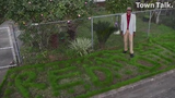 For over 20 years, Arthur Brown has used a lawn trimmer to create designs in his yard located at University and 5th Streets in Alexandria. Brown creates a new design for the beginning of each new year.