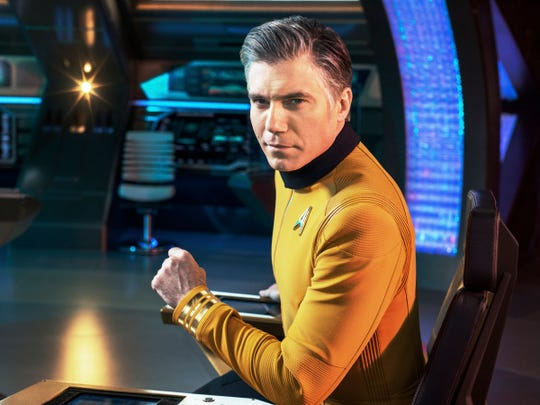 "Anson Mount as Captain Pike in the CBS All Access series, ""Star Trek: Discovery."""