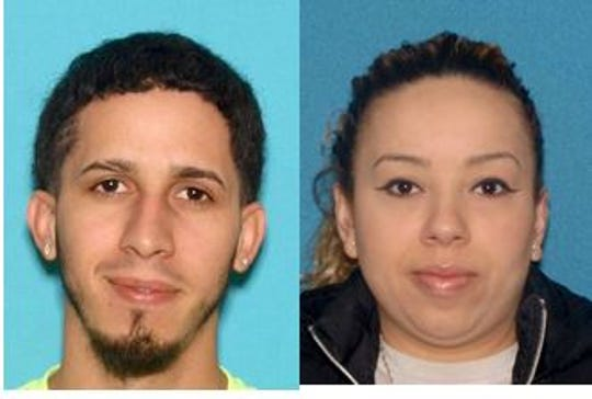 Jonathon Correa, left, and Kiara Martinez, both of Brick, are accused of animal cruelty in the death of their dog.