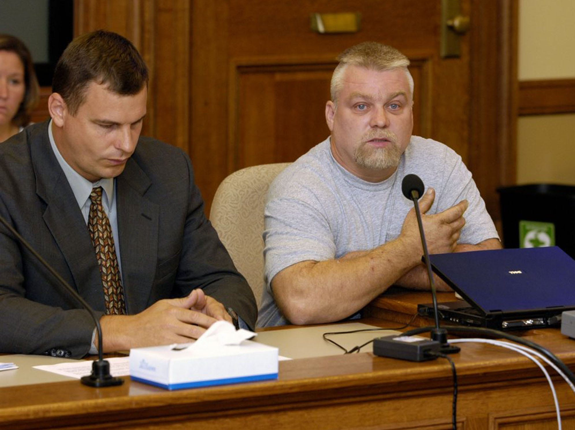 "Associated Press This image released by Netflix shows Steven Avery (right) in the Netflix original documentary series ?Making A Murderer.? This image released by Netflix shows Steven Avery (right) in the Netflix original documentary series ""Making A Murderer."""