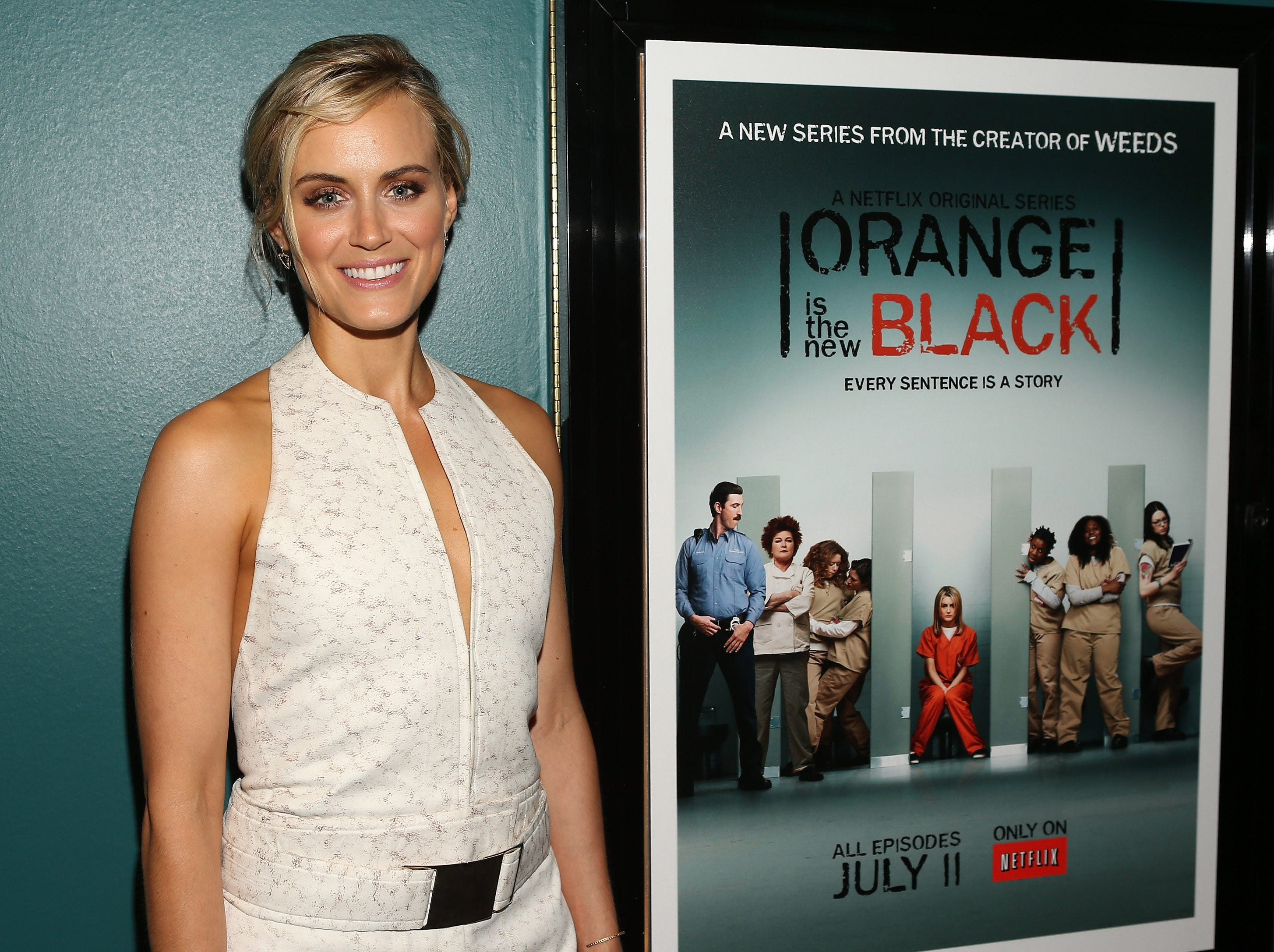 "SANTA MONICA, CA - JUNE 17:  Actress Taylor Schilling attends the Netflix Presents ""Orange Is The New Black"" Special Screening at AMC Loews Broadway 4 on June 17, 2013 in Santa Monica, California.  (Photo by Jesse Grant/Getty Images for Netflix)"