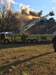 A fire damaged a home on Stonehurst Boulevard in Freehold township Jan. 10.