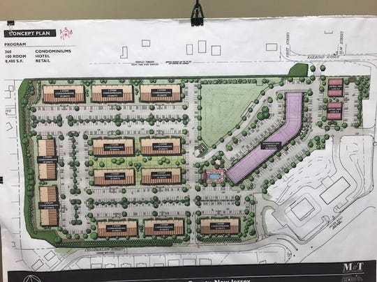 Plan for South Toms River apartments and hotel
