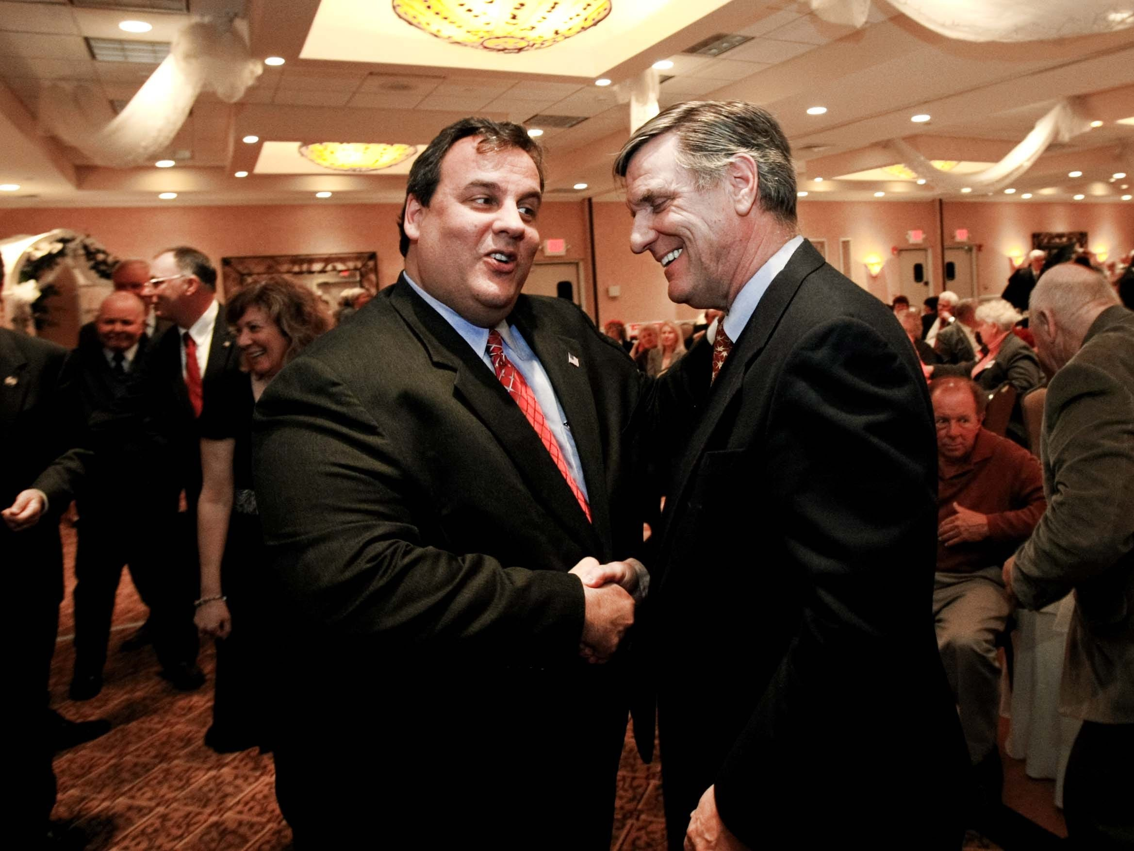 Asbury Park Press file photo Ocean County Republican Chairman George R. Gilmore (right, with Gov. Chris Christie) is now a pledged Donald Trump delegate. Ocean County Republican Chairman George R. Gilmore (right, with Gov. Chris Christie), is now a pledged Donald Trump delegate.