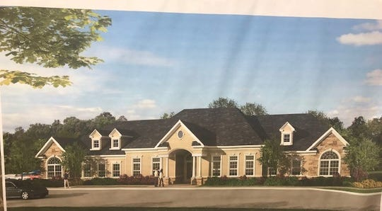 A rendering of the clubhouse at a new apartment development approved in South Toms River