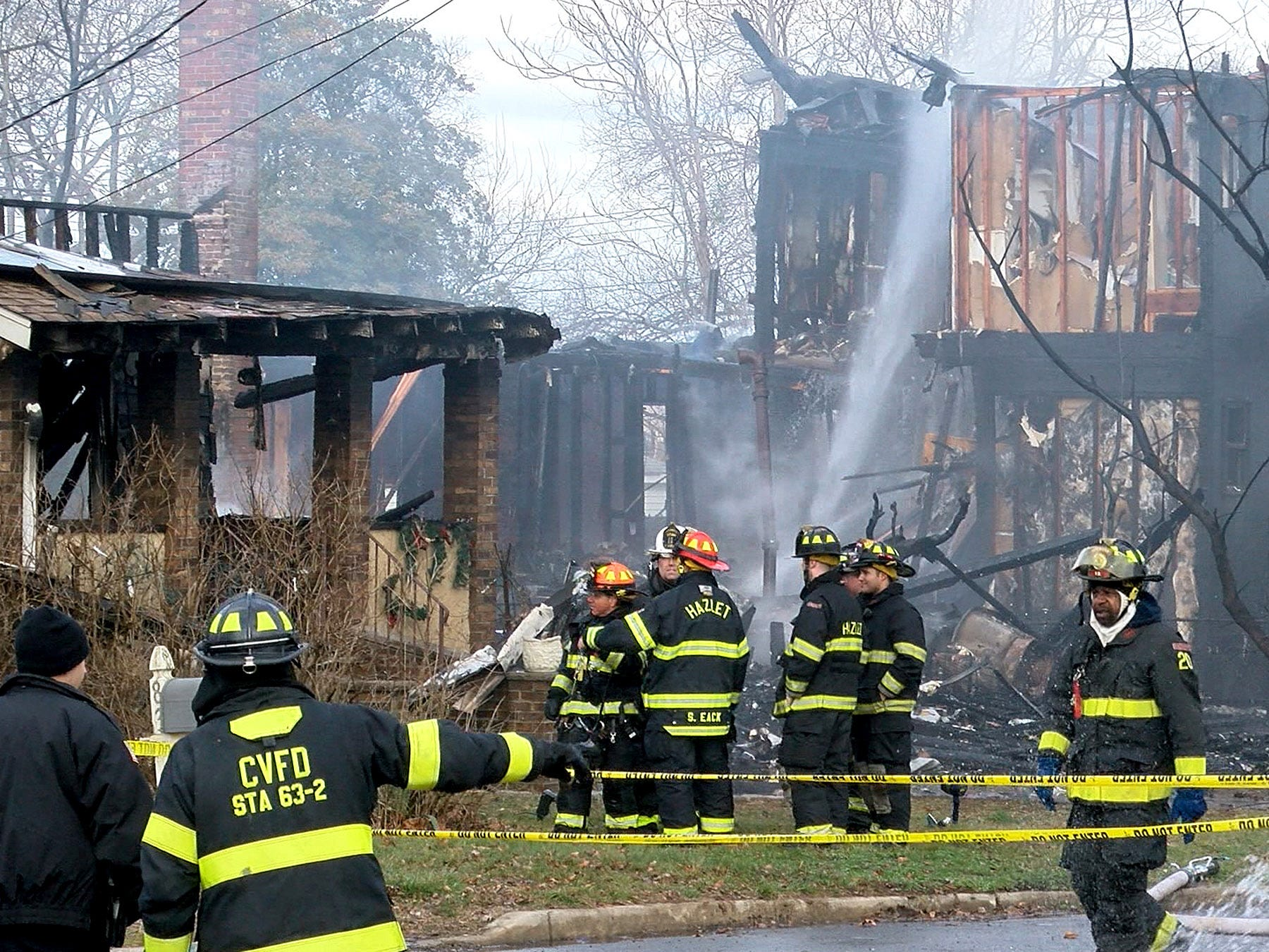 Three homes along Highfield Avenue in Aberdeen were destroyed by a fire Thursday morning, January 10, 2019.  Officials reported that no one was injured in the blaze.