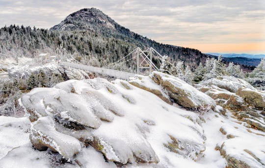 Grandfather Mountain experienced a temperature range of 83.8 degrees in 2018. The highest temperature recorded at the Mile High Swinging Bridge was 77.2 on May 13, and the lowest was -6.64 on Jan. 19. Photo by