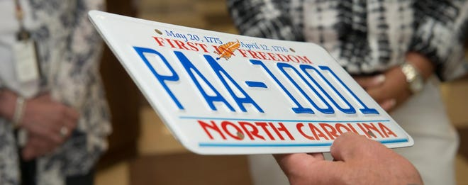 North Carolina has switched its license plates from blue to red and back to blue in recent years. The blue was deemed better for visibility.