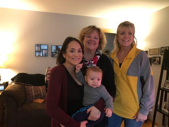 From left, Mindi Prince; her father's cousin, Donna Japp; Prince's son, Carson; and her mother's sister, Tracy Tokos.