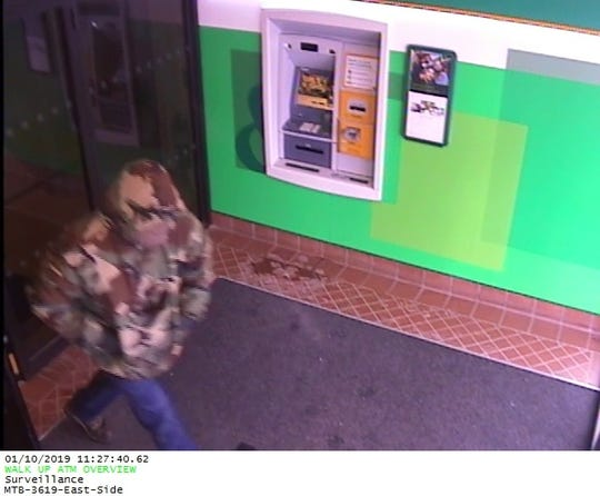 The Binghamton Police Department is looking for a man who robbed the East Side Branch of M&T Bank in Binghamton Thursday morning.