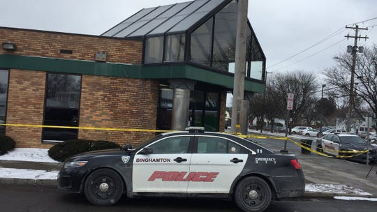 Binghamton police are seeking the suspect of a robbery at M&T Bank on Robinson Street in Binghamton.