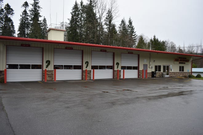 The North Mason Regional Fire Authority's Belfair fire station is 8,000 square feet. The authority wants to build a new 15,000-square foot fire station next door and lease the current building to Mason County.
