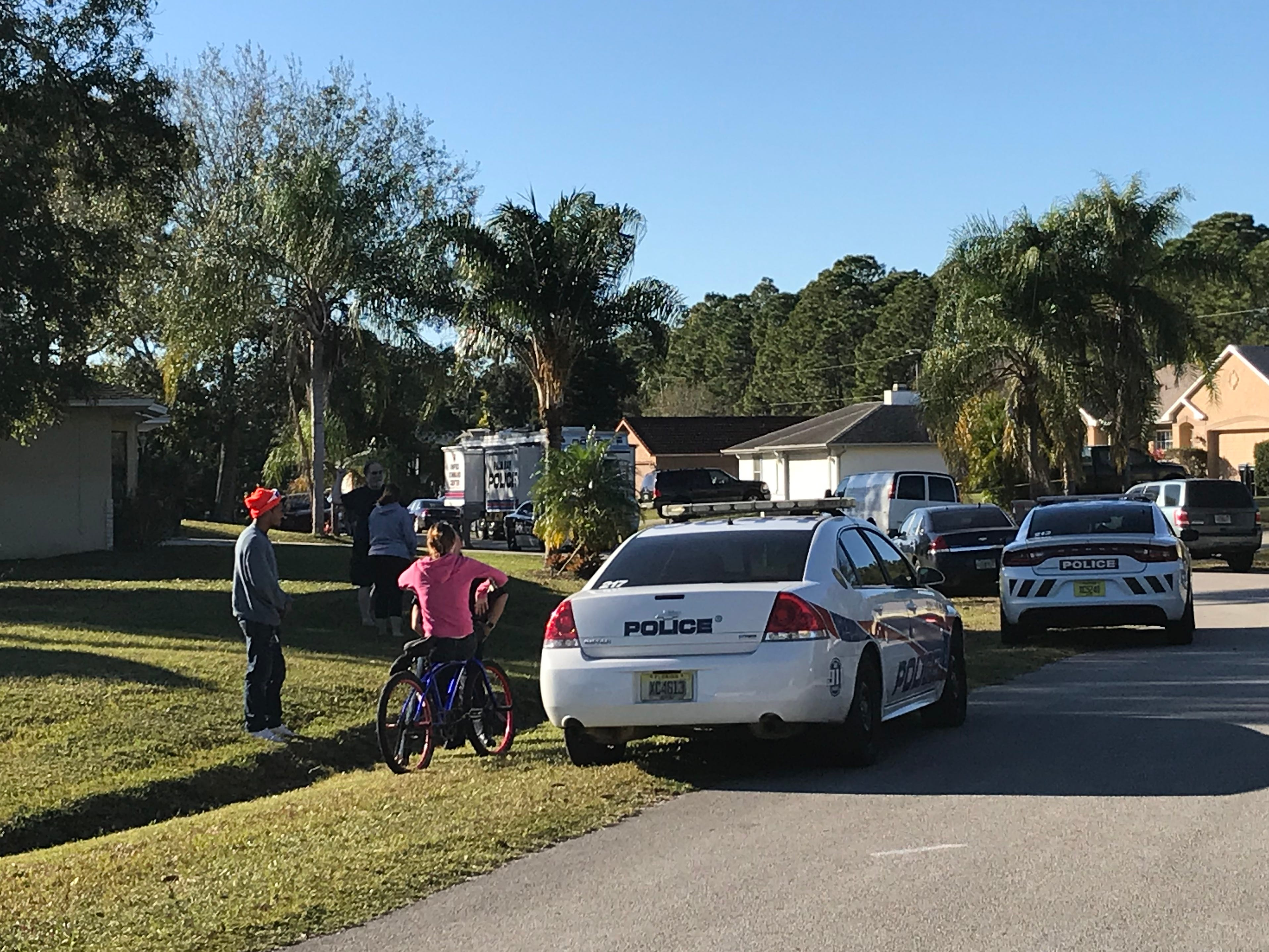 Palm Bay police investigate a shooting on Thursday, Jan. 10, 2019.