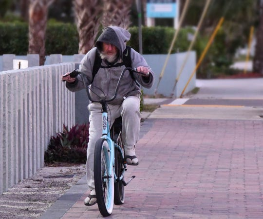 It was a chilly moirning for a bike rid with temperatures in the 40's at sunrise beachside Thursday morning in Brevard County with winds making it feel even colder.