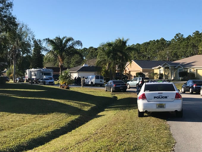 Palm Bay police investigate a shooting on Furth Street on Thursday, Jan. 10, 2019.