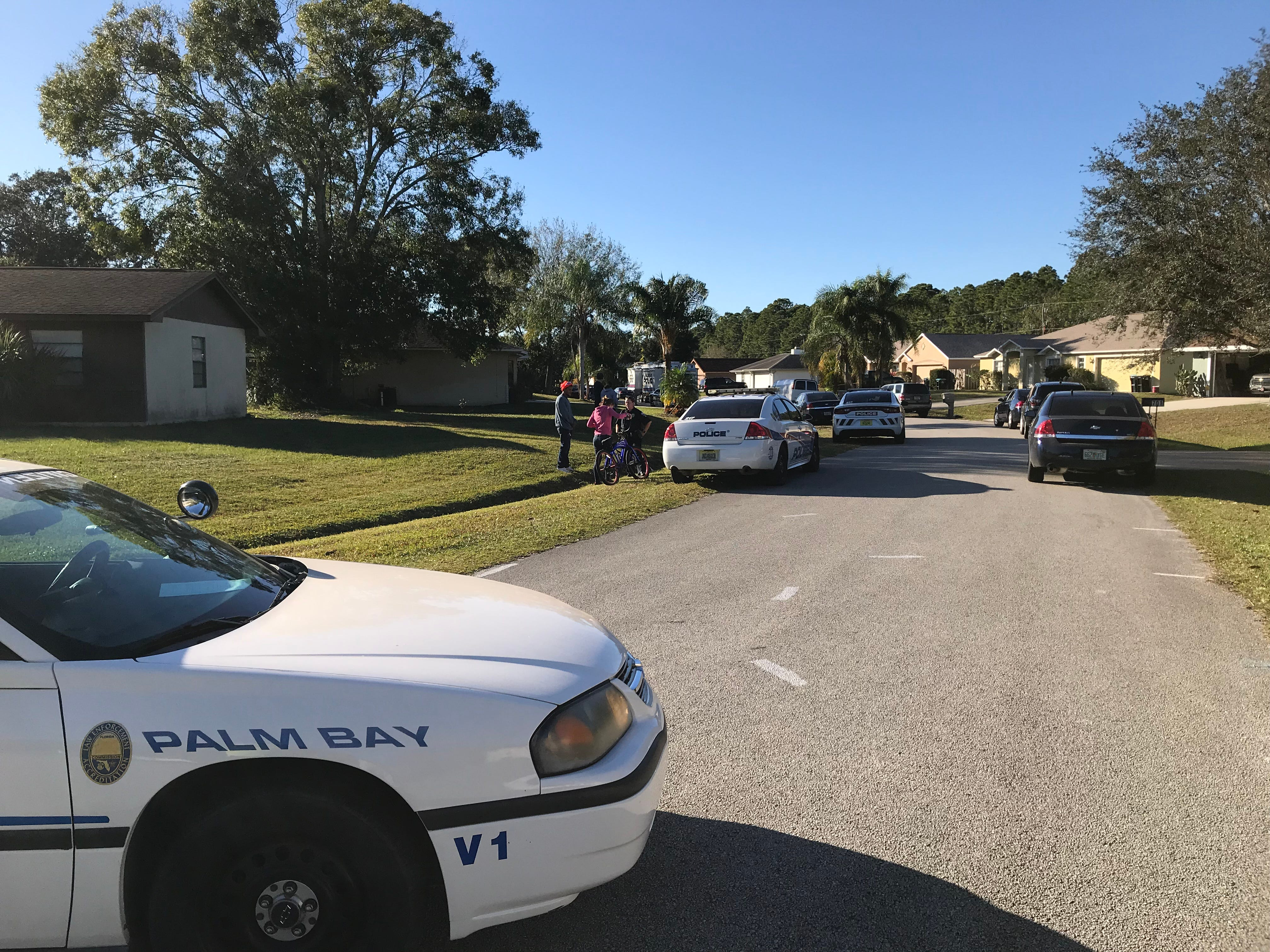 Palm Bay police investigate a shooting scene on Thursday, Jan. 10, 2019.