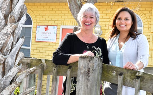 Later this month, Jenny Gessler will step down as executive director of the Women's Center in Melbourne. She'll be turning the reins over to Stephanie Husted, at right.