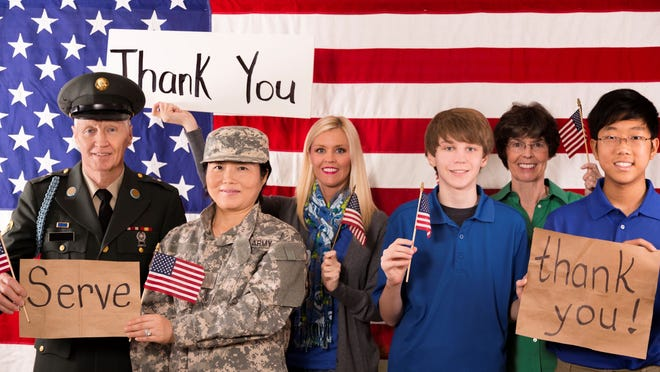 FLORIDA TODAY employees will collect supplies and letters of gratitude for active-duty military, veterans and first resopnders at our office on U.S. 1 from 10 a.m. to 4 p.m. Tuesday and Wednesday.