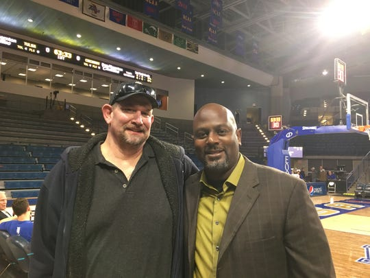 "Mike ""Rock"" Reicheneker joins his former UC Final Four teammate Terry Nelson in Tulsa for the UC game Thursday night."