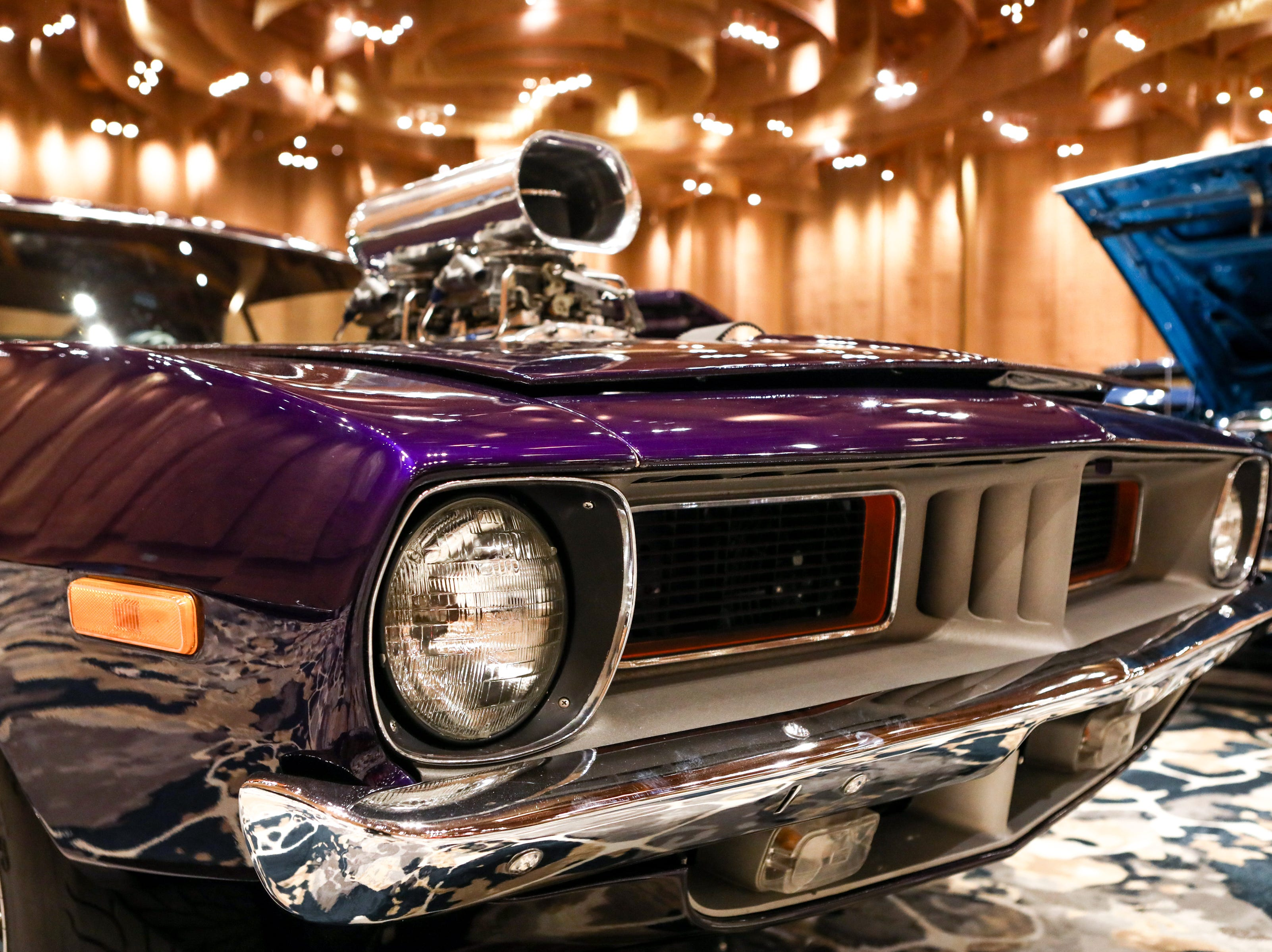 A 1972 Plymouth Baracuda. The 2019 annual KOI Cavalcade of Customs Car Show will feature hundreds of cars, trucks, motorcycles and other vehicles to view at the Duke Energy Convention Center.