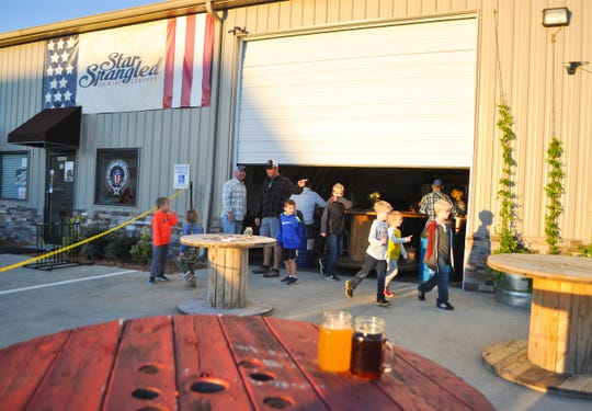 Breweries like Star-Spangled Brewing Company is a place for veterans, visitors and their families to get together.