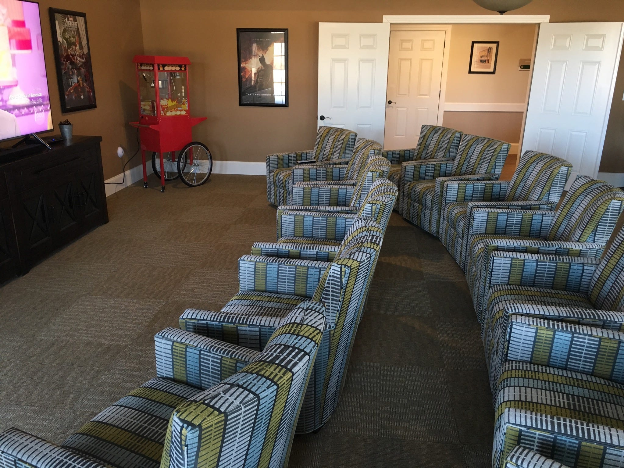 """Welcome to the """"Roxy Theater"""" at the Villages at the River Club."""