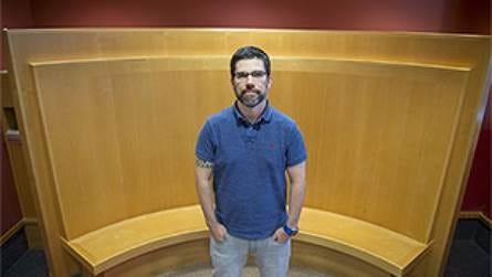 Jean-Francois Daneault, an assistant professor at Rutgers School of Health Professions.