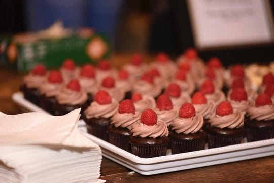 Chocolate-raspberry cupcakes from an Indulge event.