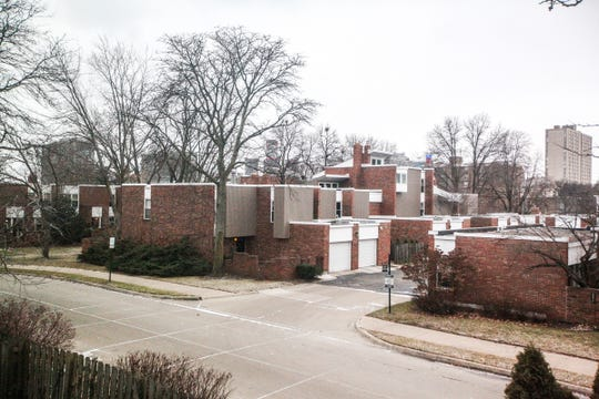 Hyde Park's 95 cooperative homes are part of the Mid-century architecture around Lafayette and Elmwood Parks. Rising in the background is the iconic 1300 Lafayette.
