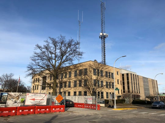 Royal Oak City Hall and police station are pictured Jan. 10, 2019. The buildings are to be demolished and replaced with a city park as new buildings are constructed one block east.