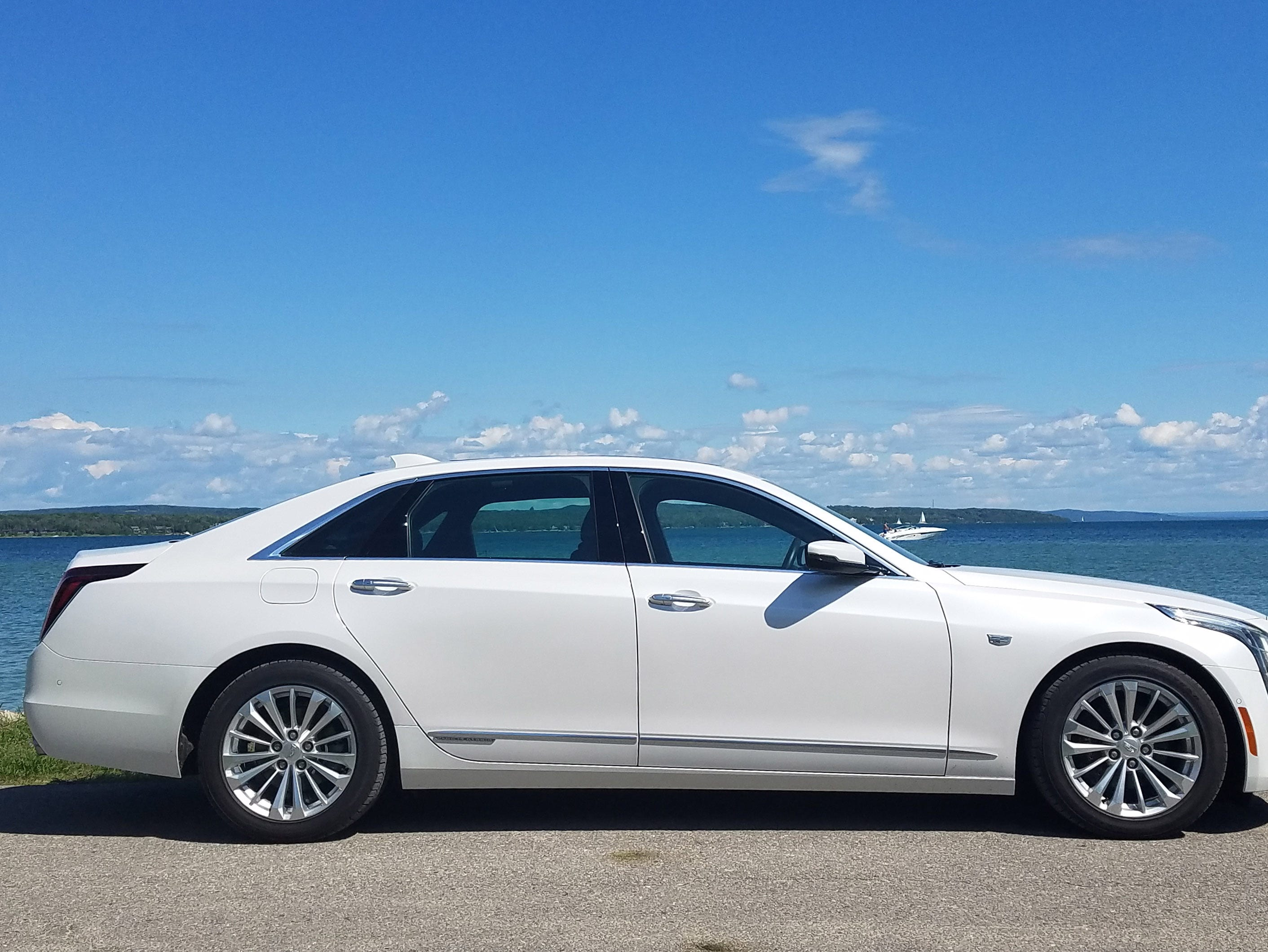 The rear-wheel-drive 2017 Cadillac CT6 Plug-in goes from zero to 60 in 5.2 seconds with 31-mile electric-only range.