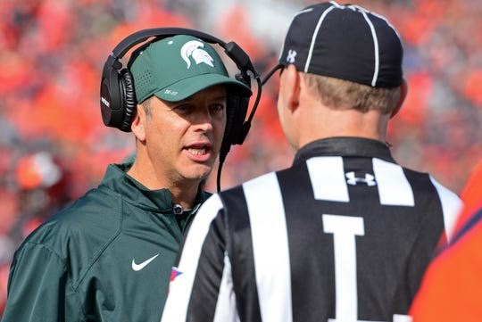Quarterbacks coach Brad Salem has been named the new offensive coordinator at Michigan State.