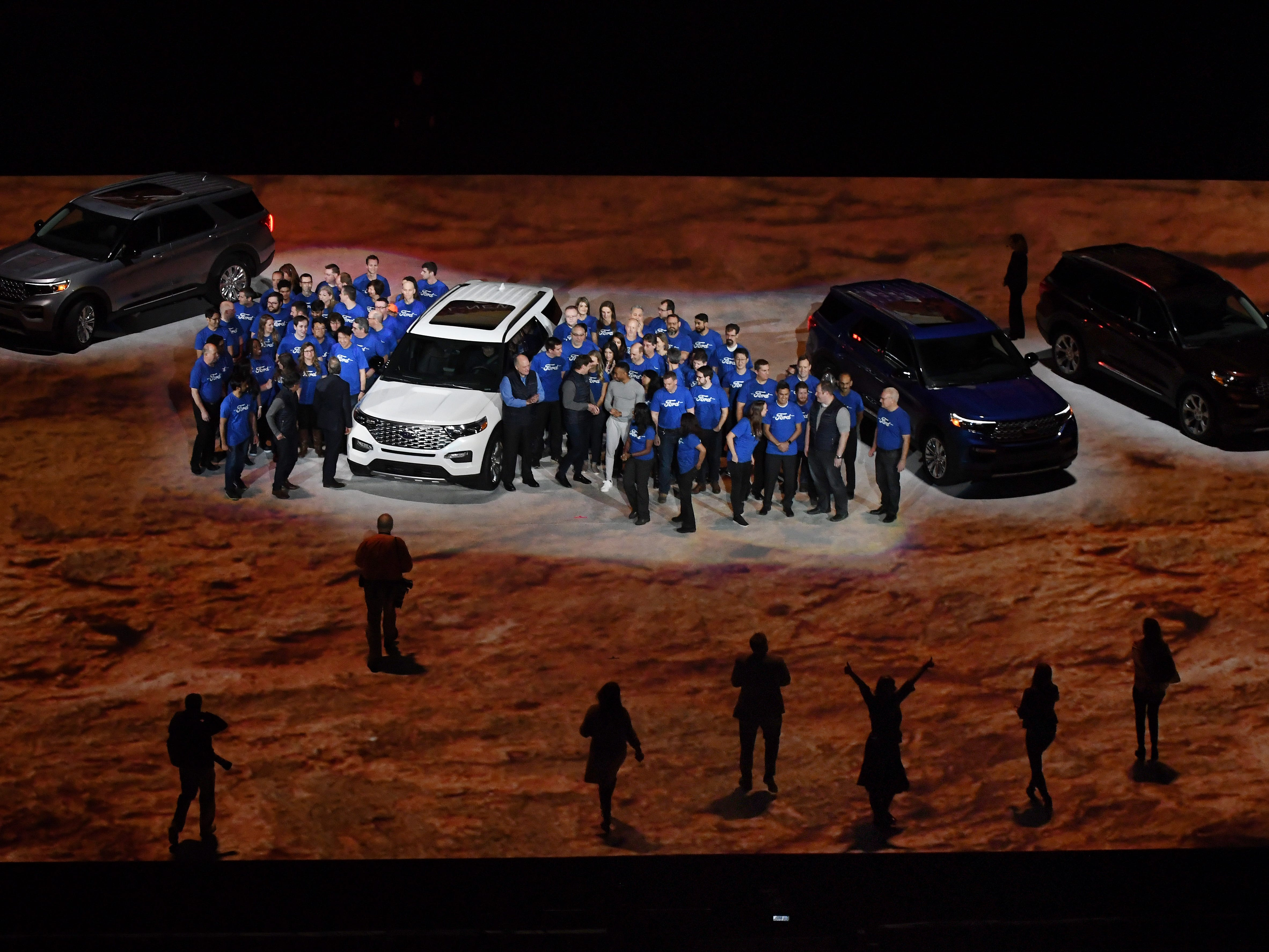 2020 Ford Explorer reveal at Ford Field in Detroit, Michigan.